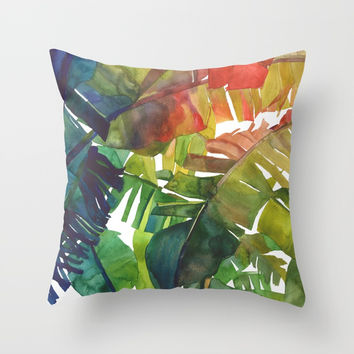 The Jungle vol 5 Throw Pillow by Takmaj