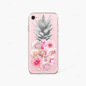 Foodie Gift Pineapple iPhone 8 Case Clear iPhone 7 Case Clear iPhone 8 Plus Clear Case Gift for Her iPhone X Case Samsung Galaxy S8 Case