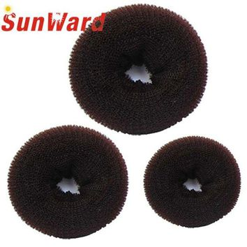 DCCKWJ7 Stylish 3 Pcs Sponge Women Hair Bun Ring Donut Shaper Hair Styler Maker for Girl 3 Sizes Elastic Hairbands