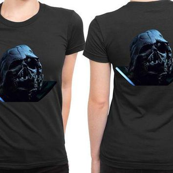 DCCKG72 Star Wars The Force Awakens Darth Vader Broken Helmet Photo 2 Sided Womens T Shirt