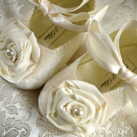 Victoria Baby Girl Shoes Wedding Flower Girl by pink2blue on Etsy