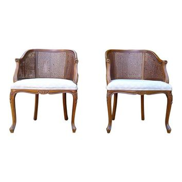 Pre-owned Ethan Allen Mid-Century Armchairs - A Pair
