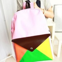 Fashion Leisure Envelope Canvas Backpack