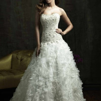 Allure Bridals 8801 Swarovski Crystal Embellished Wedding Dress
