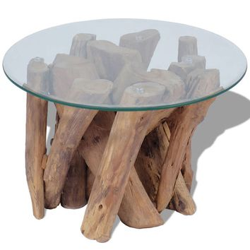 Coffee Table Solid Teak 23.6""
