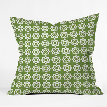 Khristian A Howell Moroccan Mirage Green Outdoor Throw Pillow