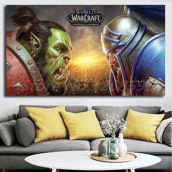 World of Warcraft Battle For Azeroth Wall Canvas