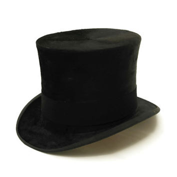 Antique Top Hat. Stovepipe Beaver Top Hat. Steampunk Hat.