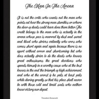 The Man In The Arena by Theodore Roosevelt by Andrea Anderegg Photography