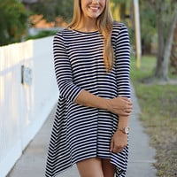 Dreaming Of The Sea Knit Dress - Navy