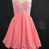 Exquisite A-line Sweetheart Mini Embroidery Prom Dress