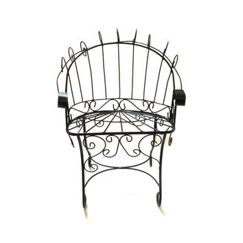 Child's Peacock  Chair - Wrought Iron and Twisted Iron Wire