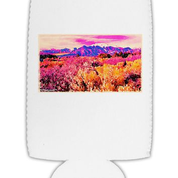 Colorful Colorado Mountains Collapsible Neoprene Tall Can Insulator by TooLoud