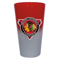 Chicago Blackhawks 2015 Western Conference Champions 17oz. Two-Tone Color Chrome Mixing Glass