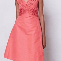 NWT $238 Anthropologie Ruched Crossing Dress Sz 12 - By Mirror of Venus