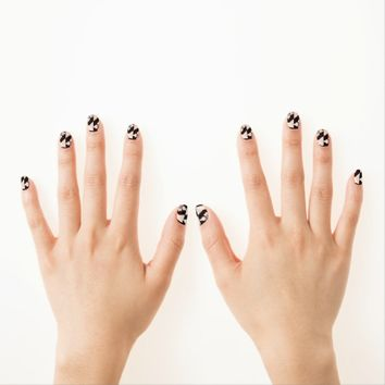 Black White Tiles Minx Nail Art