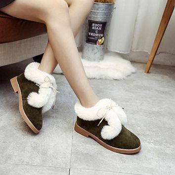 Women Ankle Boots Autumn Winter New Fashion Fur Snow Boots For Girls Ladies Work Shoes