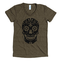 Skull face TriBlend t-shirt