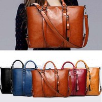 Genuine Leather Bags Tote Handbags Messenger Bags Shoulder Vintage