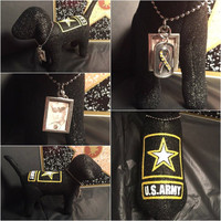 US Army Military RIP Memory Custom Victoria Secret Dog