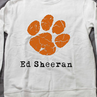 Ed sheeran Sweatshirt White long sleeve Unisex handmade silk screen printing