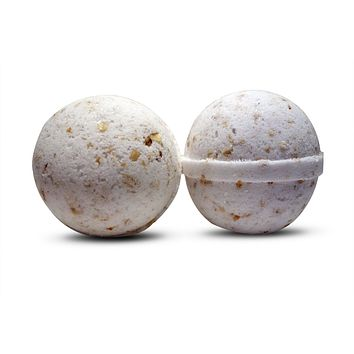 Coconut Crushed Oatmeal Bath Bomb 6 oz (unscented)