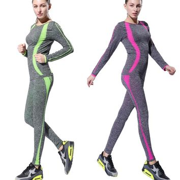 Besgo Women Fitness Yoga Set Gym Sports Running Jumpsuits Jogging Exercise Tracksuit Breathable Quick Dry Spandex Sportswear