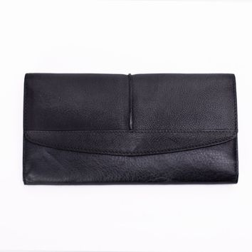 BLUESEBE HANDMADE VINTAGE GENUINE LEATHER LONG WALLET 9056DC