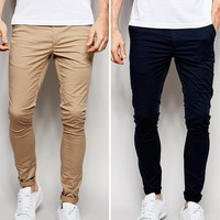 ASOS 2 Pack Extreme Super Skinny Chinos SAVE 15%