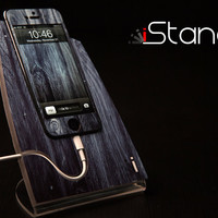 NEW Washed Wood iStand for iPhone 5 by Design Skinz
