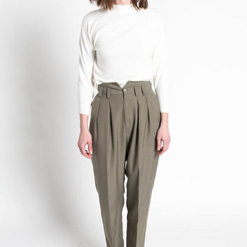 Best High Waisted Pleated Trousers Products on Wanelo
