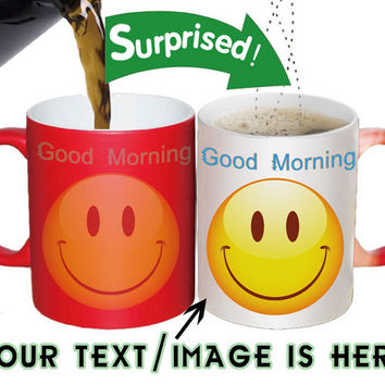Red Color changing mugs-personalized mugs-custom mugs-photo mugs-Ceramic mugs-funny cute coffee mugs-best girlfrend/boyfriend gift