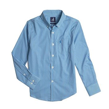 Youth Augusta Prep-Formance Button Down Shirt in Oasis by Johnnie-O