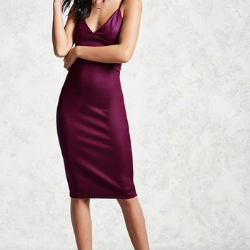 Satin Cami Bodycon Dress