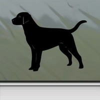 Black Lab Labrador Retriever Dog Black Sticker Decal Car Window Wall Macbook Notebook Laptop Sticker Decal