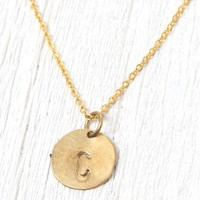 Me To We 'C' Stamped Necklace - Womens Jewelry - Gold - One