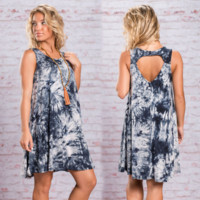 Ombre Print  Slim Dress B0014921