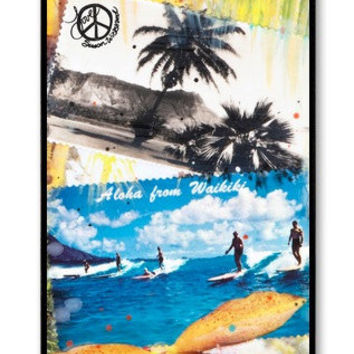 iPhone 4/4s CASE, ALOHA From WAIKIKI, cell phone cover, Ocean, Surfing, Hawaii, Orchids Avail. with black or white case color