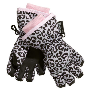 H&M - Ski Gloves - Gray/Leopard print - Kids