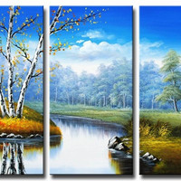 Meadow Brook Canvas Wall Art