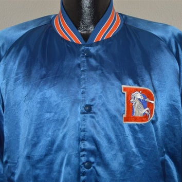 80s Denver Broncos Satin Jacket Large