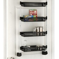 Organize It All Over The Door 4-Basket Unit With Hooks (17714)