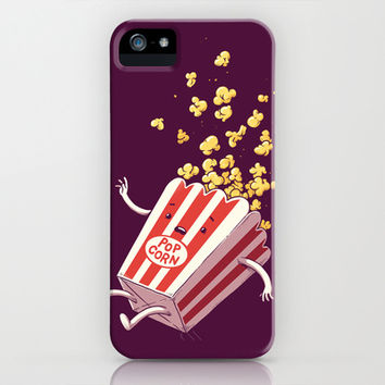 Popcorn Fall iPhone & iPod Case by Temyong
