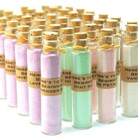 Flavored Sugar Wedding Favors- 50 Mini Bottles with Corks for Wedding, Shower, Tea Party, Bat Mitzvah, Anniversary Party