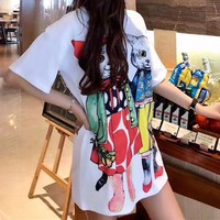 Gucci Women Fashion Cute Casual Short Sleeve Mini Dress
