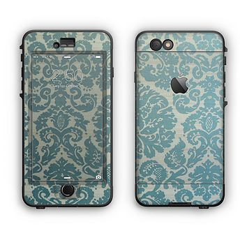 The Subtle Green Lace Pattern Apple iPhone 6 Plus LifeProof Nuud Case Skin Set