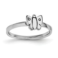 Sterling Silver Child's Polished Butterfly Ring