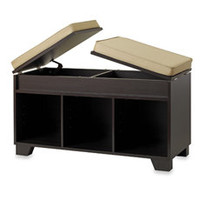 Real Simple Split-Top Bench Storage Unit - Espresso