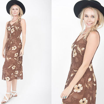 vintage 90s floral dress vintage 90s brown acordion floral dress vintage floral gauze dress with ties at back vintage floral gauze sun dress