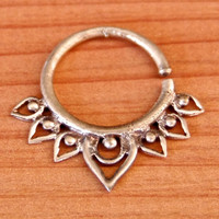 Septum Ring - Septum Jewelry - Septum Piercing - Septum Cuff - Indian Nose Ring - Indian Septum Ring - For Pierced Nose (Code: OS10)